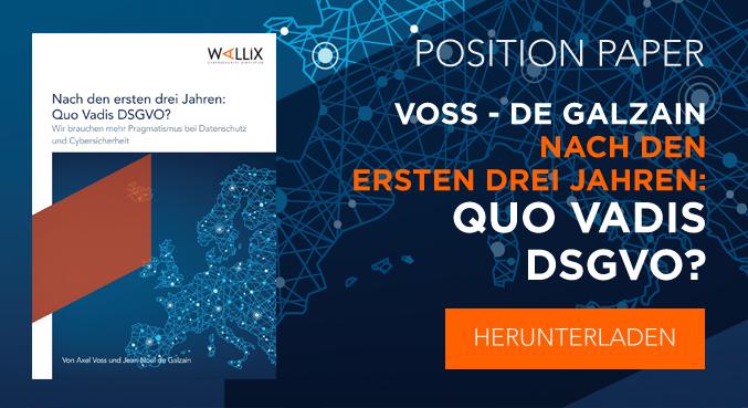 Nach den ersten drei Jahren : Quo Vadis DSGVO ? von Axel Voss & Jean-Noel de Galzain